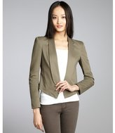 Rebecca Minkoff army solid stretch cotton woven cropped 'Jimmy' jacket