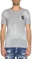 DSQUARED2 Logo Lion Patch T-Shirt, Gray