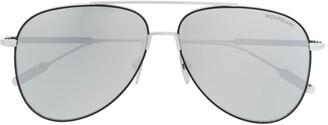 Montblanc Aviator-Frame Sunglasses