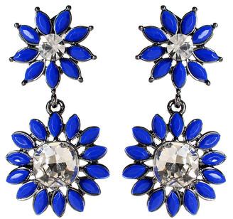 Amrita Singh Women's Earrings Blue - Austrian Crystal & Blue Baronial Drop Earrings