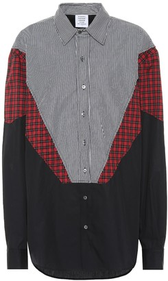 Vetements Patchwork cotton shirt