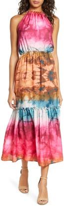 Adelyn Rae Leyla Print Tiered Dress