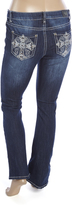 ZCO Deep Blue Embellished-Pocket Bootleg Jeans - Plus