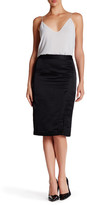 Nanette Lepore Shimmy Up Linen Blend Skirt