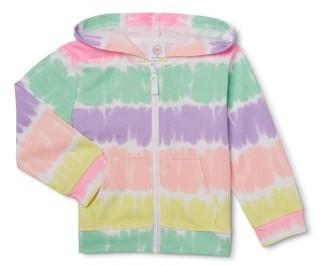 Wonder Nation Baby & Toddler Girl French Terry Zip Up Hoodie Sweatshirt (12M-5T)