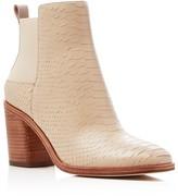 Pour La Victoire Willux Snake Textured Block Heel Booties