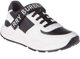 Burberry Logo Detail Leather & Nylon Sneaker
