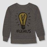 Junk Food Clothing Kids' Monopoly Genius Long Sleeve Graphic T-Shirt - Charcoal