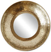 Round Metal-Framed Mirror