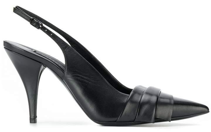 cf066b10cd Black Slingback Stilettos - ShopStyle