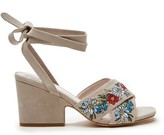 Sole Society Flora Embroidered Wrap Heel