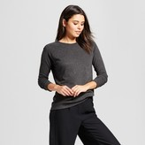 Mossimo Women's Pullover Sweater with Zip Shoulder Gray