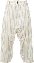 Vivienne Westwood cropped drop-crotch trousers - men - Virgin Wool - 44