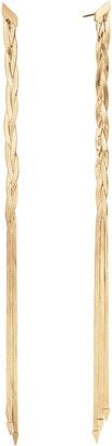 Lana Triple Braided Linear Earrings