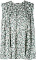 Marni sleeveless floral trapeze blouse