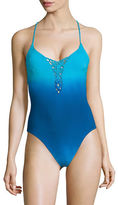 Nanette Lepore Ombre One-Piece Swimsuit