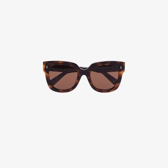 Chimi Brown Tortoiseshell Square Sunglasses