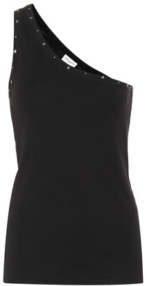 Saint Laurent Studded cotton-jersey top