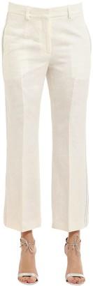 Calvin Klein Collection Herringbone Linen Pants