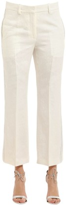 Calvin Klein Collection Herringbone Linen Pants