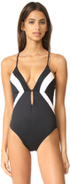 Shoshanna Colorblock One Piece