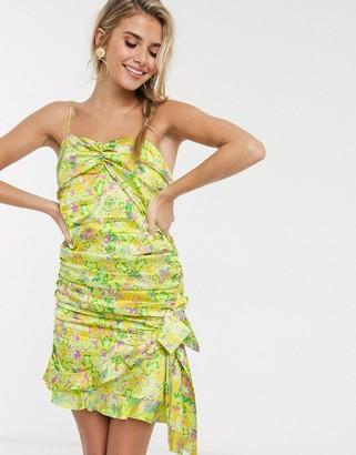 For Love & Lemons Dubois strappy mini dress in freedom floral