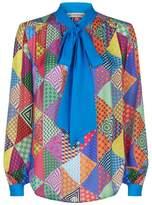 Mary Katrantzou Veddar Printed Silk Blouse