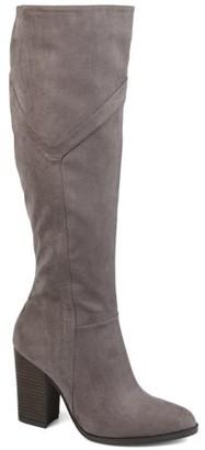Brinley Co. Womens Wide Calf Detailed Knee High Boot