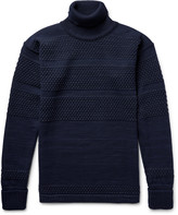 S.n.s. Herning - Fisherman Textured Virgin And Merino Wool-blend Rollneck Sweater