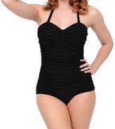 Ebuddy Vintage Plus Size Women One Piece Monikinis Swimwear