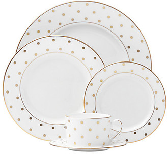 Kate Spade Larabee Road Gold 5 Piece Place Setting