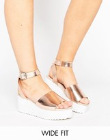 Asos TAKE OFF Wide Fit Flatform Sandals