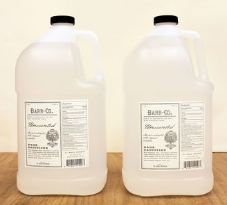 Pottery Barn Barr-Co Unscented Hand Sanitizer Gallon Refills - Set of 2