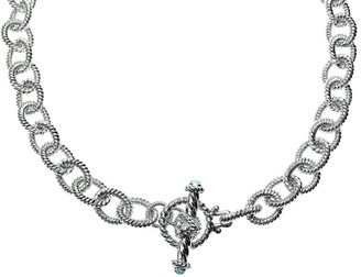 """Judith Ripka 5th Avenue 24"""" Topaz Chain Necklace, Sterling"""