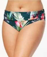 LaBlanca La Blanca Plus Size Beyond the Jungle Printed Tummy-Control Foldover Bikini Briefs