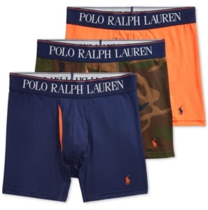 Polo Ralph Lauren Men's 3-Pack 4D-Flex Cooling Microfiber Boxer Briefs
