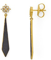 Freida Rothman Indigo Armour Textured Drop Earrings