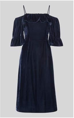 Whistles Velvet Bardot Dress