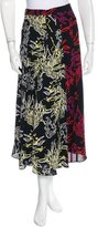 Tanya Taylor Abstract Print Silk Skirt w/ Tags