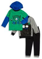 Nannette Little Boy's Monster Graphic Pullover Hooded Tee and Joggers Set