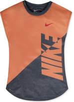 Nike Splice Heather Dri-FIT T-Shirt, Toddler Girls (2T-4T) & Little Girls (2-6X)