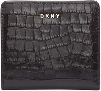 DKNY Bryant Croc-Embossed Leather Bifold Wallet