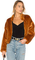 Free People Faux Fur Furry Bomber Jacket