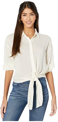 Bishop + Young Harper Tie Waist Blouse (Pearl) Women's Blouse
