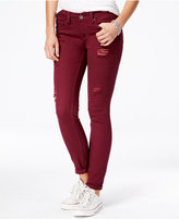 Dollhouse Juniors' Ripped Colored Wash Skinny Jeans