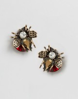 Asos Statement Bug Stud Earrings