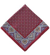 Daniel Cremieux Medallion Border Silk Pocket Square