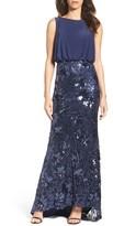 Mac Duggal Women's Blouson Sequin Gown