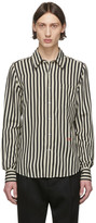 Ami Alexandre Mattiussi Black and Off-White Striped Shirt