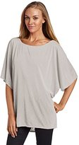 Michael Stars Women's Luxe Slub Short Sleeve Off Shoulder Dolman Shirt